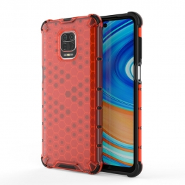OEM Honeycomb Armor Case with TPU Bumper Xiaomi Redmi Note 9s - Red
