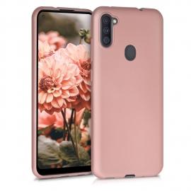 KW TPU Silicone Case Samsung Galaxy A11 - Metallic Rose Gold (52174.31)