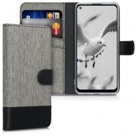 KW Wallet Case Huawei P40 Lite E - Grey / Black (52249.22)