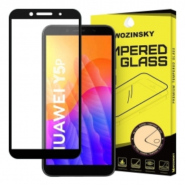 Wozinsky Full Cover Tempered Glass 9H Full Glue with Frame Case Friendly Huawei Y5p - Black