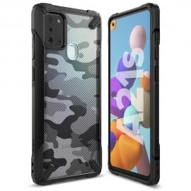 Ringke Fusion-X Design Case Samsung Galaxy A21s - Camo Black