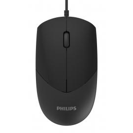 PHILIPS ενσύρματο ποντίκι SPK7244, 1000DPI, USB, 3 πλήκτρα - Black