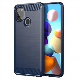 OEM Carbon Fiber Case Samsung Galaxy A21s - Blue