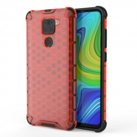 OEM Honeycomb Armor Case with TPU Bumper Xiaomi Redmi Note 9 - Red