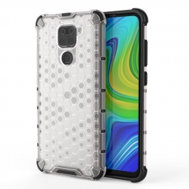 OEM Honeycomb Armor Case with TPU Bumper Xiaomi Redmi Note 9 - Transparent