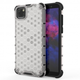 OEM Honeycomb Armor Case with TPU Bumper Huawei Y5p - Transparent