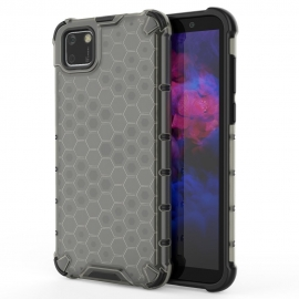 OEM Honeycomb Armor Case with TPU Bumper Huawei Y5p - Black