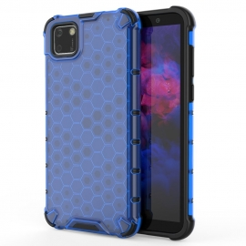 OEM Honeycomb Armor Case with TPU Bumper Huawei Y5p - Blue