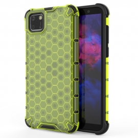 OEM Honeycomb Armor Case with TPU Bumper Huawei Y5p - Green