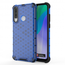 OEM Honeycomb Armor Case with TPU Bumper Huawei Y6p - Blue