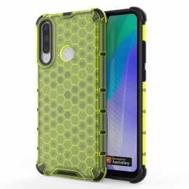 OEM Honeycomb Armor Case with TPU Bumper Huawei Y6p - Green