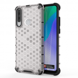 OEM Honeycomb Armor Case with TPU Bumper Huawei Y6p - Transparent