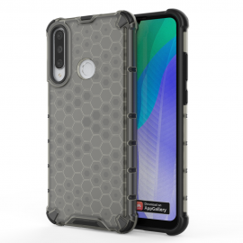 OEM Honeycomb Armor Case with TPU Bumper Huawei Y6p - Black