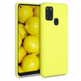 KW TPU Soft Flexible Rubber Samsung Galaxy A21s - Yellow Matte (52565.49)