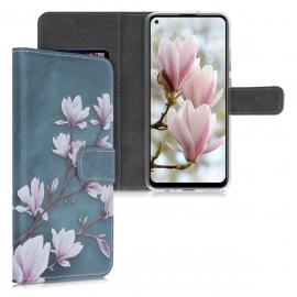 KW Wallet Case Huawei P40 Lite E - Taupe / White / Blue Grey (52073.01)