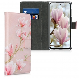 KW Wallet Case Xiaomi Redmi Note 9S - Magnolias Light Pink / White / Dusty Pink (52151.04)