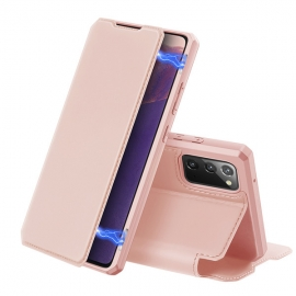 DuxDucis Skin X Bookcase Samsung Galaxy Note 20 - Rose Gold