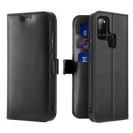 Dux Ducis Kado Bookcase wallet type case Samsung Galaxy A21s - Black