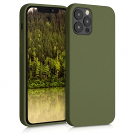 KW TPU Case Eco-Friendly Natural Wheat Straw Apple iPhone 12 / 12 Pro - Olive Green (52738.107)