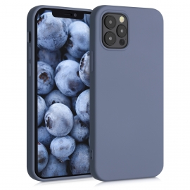 KW TPU Silicone Case iPhone 12 / 12 Pro - Blue Grey (52712.12)
