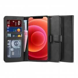 """Tech-Protect Wallet """"2"""" Case Stand iPhone 12 / 12 Pro - Black"""