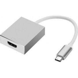 POWERTECH Converter CAB-UC006 USB 3.1 Type-C σε HDMI - Silver
