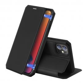 DuxDucis Skin X Bookcase iPhone 12 Mini - Black