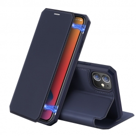 DuxDucis Skin X Bookcase iPhone 12 Mini - Blue