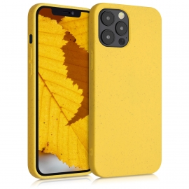 Kalibri TPU Case Eco-Friendly Natural Wheat Straw Apple iPhone 12 Pro Max - Yellow (52740.06)