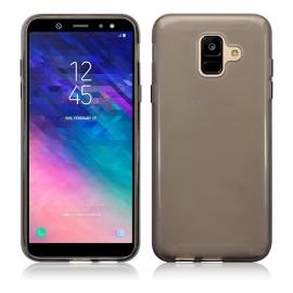 Terrapin Ημιδιάφανη Θήκη Σιλικόνης Samsung Galaxy A6 2018 - Smoke Black (118-002-686)