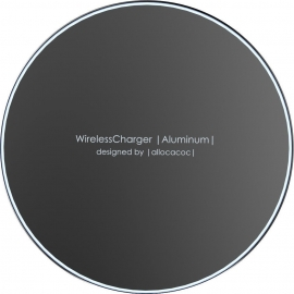 Allocacoc Wireless Charger Aluminum - Black (11023BK/WLCGAL)