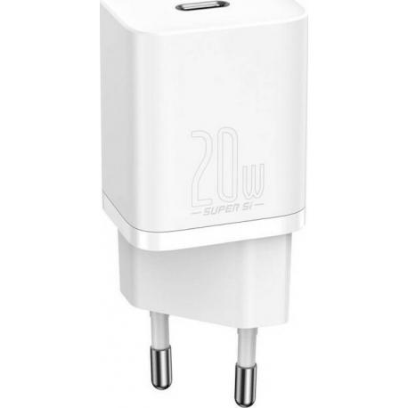 Baseus Super Si Quick Charger 1C 20W - White (CCSUP-C02)
