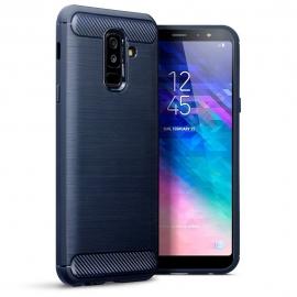Terrapin Θήκη Σιλικόνης Carbon Fibre Design Samsung Galaxy A6 Plus 2018 - Dark Blue (118-002-703)