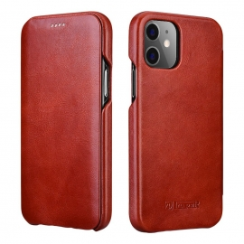 iCarer Vintage Series Curved Edge Leather Wallet case iPhone 12 Pro Max - Red (RIX1202-RD)