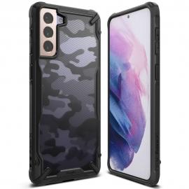 Ringke Fusion-X Design Samsung Galaxy S21 - Camo Black
