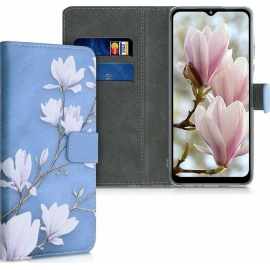 KW Wallet Case Samsung Galaxy A12 - Taupe / White / Blue Grey (54051.01)