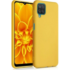 KW TPU Silicone Case Samsung Galaxy A12 - Honey Yellow (54048.143)