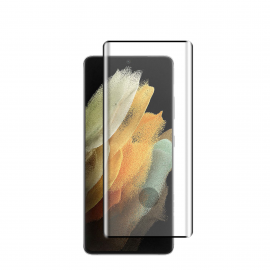 Vivid Full Face Tempered Glass 3D Curved Samsung Galaxy S21 Ultra - Black (VITEMP1603D)