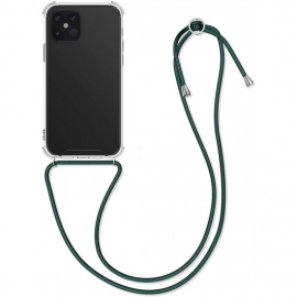 KW Crystal TPU Necklace Case iPhone 12 Pro Max - Transparent/Dark Green (52732.80)