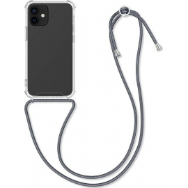 KW Crystal TPU Necklace Case iPhone 12 / 12 Pro - Transparent / Grey (52730.22)