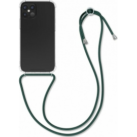 KW Crystal TPU Necklace Case iPhone 12 / 12 Pro - Transparent / Dark Green (52730.80)