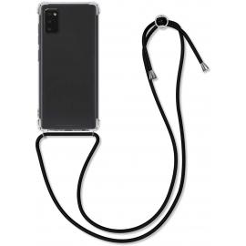 KW Crystal TPU Necklace Case Samsung Galaxy A41 - Transparent / Black (52257.01)
