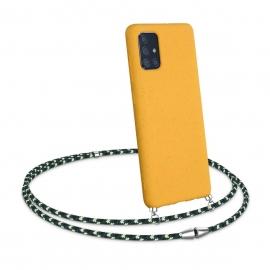 Kalibri TPU Case Eco-Friendly Natural Wheat Straw Necklace Samsung Galaxy A71 - Honey Yellow/Green (52378.143)