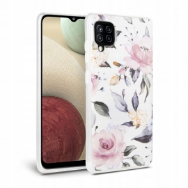Tech-Protect TPU Case Samsung Galaxy A12 - Floral White