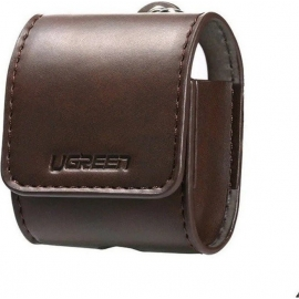UGREEN Eco PU Leather AirPods Case Cover with Anti-Dropping Strap - Brown (60516)
