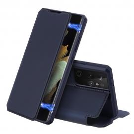 DuxDucis Skin X Bookcase Samsung Galaxy S21 Ultra 5G - Blue
