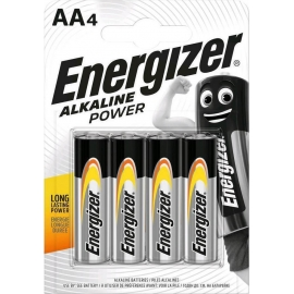 Energizer Battery Alkaline Power AA Pack 4pieces (F016697)