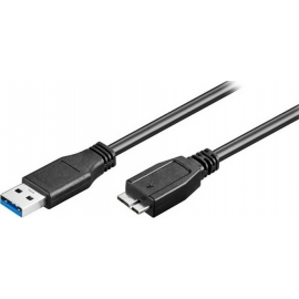 POWERTECH καλώδιο USB 3.0 σε USB Micro-B CAB-U142, 0.5m - Black