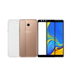 Vivid Set TPU + Tempered Glass Full Face Samsung Galaxy J4 Plus 2018 Black (VIGELLY60TNGLASSBK)