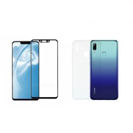 Vivid Set TPU + Tempered Glass Full Face Huawei P Smart 2019 (VIGELLY43TNGLASSBK)